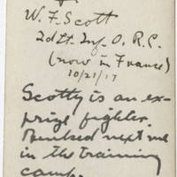 1917-10-21 Robert M. Browning and W.F. Scott - Back