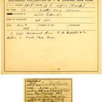 Thomas Wilmer Dewing, egg card # 463