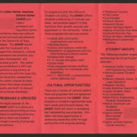 Flyer: Latino Native American Cultural Center Page 2