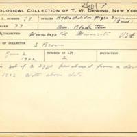 Thomas Wilmer Dewing, egg card # 058