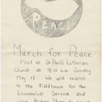 1970-05-17 March for Peace Flyer