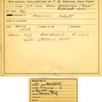 Thomas Wilmer Dewing, egg card # 098