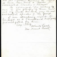 Mrs. Frank Cook correspondence Page 2