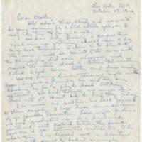 1946-10-17 Helen Fox Angell to Bessie Peebles Fox Page 1