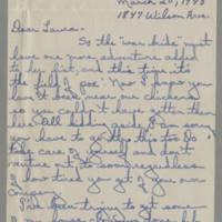 1945-03-20 Irene to Laura Frances Davis Page 1