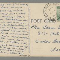 1942-09-06 Postcard Lloyd Davis to Laura Davis - back