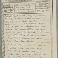 1943-08-20 Lloyd Davis to Laura Davis