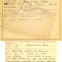 Thomas Wilmer Dewing, egg card # 087