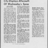 "1971-05-07 Daily Iowan Article: """"City Displays Aftermath Of Wednesday's Spree"""""