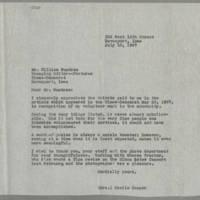 1967-07-10 Mrs Cecile Cooper to Mr. William Wundram
