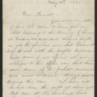 1863-05-04 William E. Thorpe to Alfred Thorpe Page 1