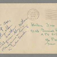 "1944-06-22 """"Jap"""" Fox to Helen Fox Page 4 - Envelope"