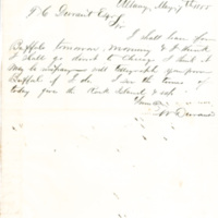 Correspondence from William F. Durant to Thomas C. Durant, 1855-1863