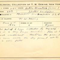 Thomas Wilmer Dewing, egg card # 177