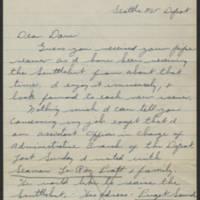 David R. Elder correspondence, December 1944-January 1945