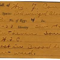 William F. Coultas, egg card # 017