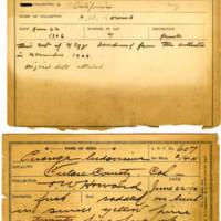 Thomas Wilmer Dewing, egg card # 490