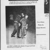 "1972-05-12 Iowa City Press-Citizen Article: """"Tear Gas Breaks Up 'Blockade for Peace'"""" Page 3"