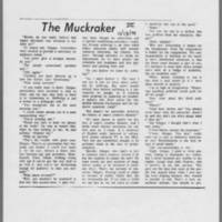 """1970-11-13 Daily Iowan Article: """"""""The Muckraker"""""""" Page 1"""