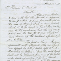 Hazard versus Thomas C. Durant correspondence from Samuel R. Honey, Newport, R.I., 1875-1885