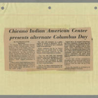 Latino-Native American Cultural Center newspaper clippings, 1970-2001