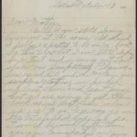1917-10-13 Harvey Wertz to Mrs. L.A. Wertz Page 1