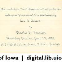 1889-06-20 Wedding invite front