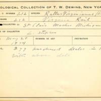 Thomas Wilmer Dewing, egg card # 157