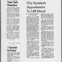 """1972-05-13 Iowa City Press-Citizen Articles: """"""""Protesters, Teens Clash Downtown"""""""""""