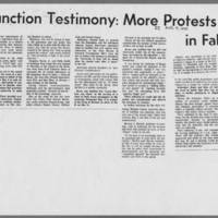 """1970-08-07 Daily Iowan Article: """"""""Injunction Testimony: More Protests in Fall"""""""""""