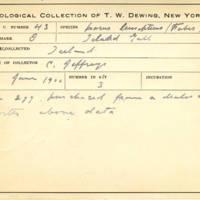 Thomas Wilmer Dewing, egg card # 031