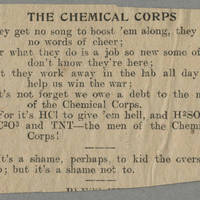 "Clipping: """"The Chemical Corps"""" Page 1"