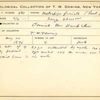 Thomas Wilmer Dewing, egg card # 695u