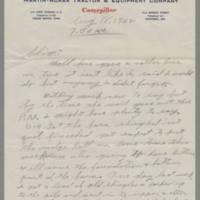 1942-08-18 George Davis to Lloyd Davis Page 1