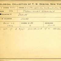 Thomas Wilmer Dewing, egg card # 401