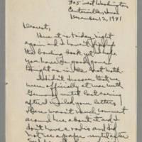 1941-12-12 Laura Davis to Lloyd Davis Page 1