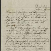 1918-06-19 Thomas Messenger to Mr. & Mrs. N.H. Messenger Page 1