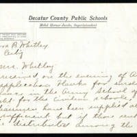 Mabel Jacobs to Mrs. Cora Whitley Page 1
