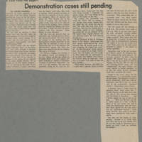 "Article: """"Demonstration cases still pending"""" Page 1"
