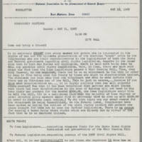 1967-05-21 Newsletter, Fort Madison Branch of the NAACP Page 1