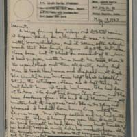 1943-05-19 Laura Davis to Lloyd Davis Page 1