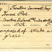 Horace Poole, egg card # hp004u
