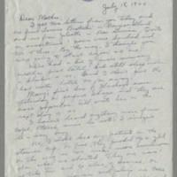 Helen Fox Angell letters to Bess Peebles Fox, July 1944-April 1945