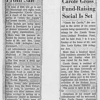 "1964-07-27 Article: """"Carole Gross Fund-Raising Social Is Set"""""