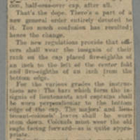 "Clipping: """"Insignia of Rank On Overseas Cap"""" Page 1"