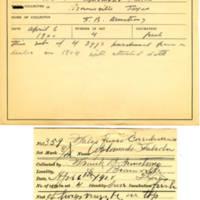 Thomas Wilmer Dewing, egg card # 238