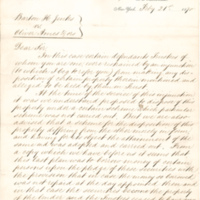 Barton H. Jenks vs. Oliver Ames deposition, New York, N.Y., February 21, 1870