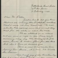 1945-02-09 T/Sgt Lester M. Hamil to Dave Elder