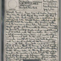 1943-07-09 Laura Davis to Lloyd Davis