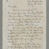 1943-07-25 Laura Davis to Lloyd Davis Page 1